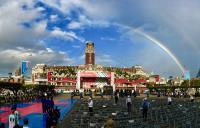 雙十國慶  清晨總統府見彩虹