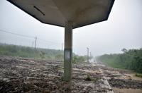 台東土石流淹鐵軌