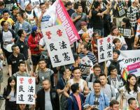 同志大遊行 民眾自製標語參與