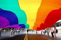 2017同志大遊行 6色彩虹旗先導出發