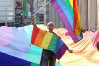 祁家威參與2017台灣同志大遊行