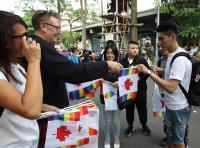 加拿大駐台北貿易辦事處參與同志大遊行