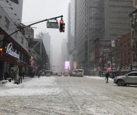 暴風雪侵襲大紐約  到處積雪泥濘不堪