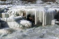陸黃河壺口瀑布結冰