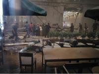 印尼證交所坍塌 大廳受創慘重