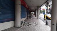 強震影響  花蓮市舊遠百大樓成危樓(1)