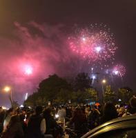 河內跨年煙火秀 民眾歡度農曆新春