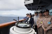蔡總統測考海軍戰力(4)