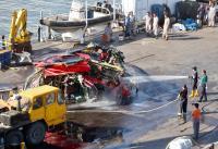 黑鷹直升機殘骸 清洗檢修將送台北