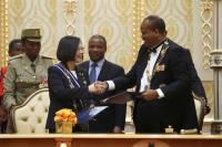 蔡總統與史王簽署聯合公報