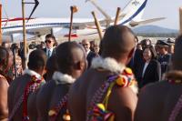 蔡總統抵史瓦濟蘭 受盛大歡迎