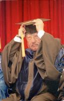 孫越接受美國阿姆斯壯大頒贈榮譽人文博士學位