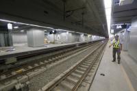 高雄鐵路工程 軌道由地上轉地下(1)