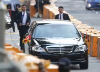 金正恩抵新加坡 北韓方面維安嚴格(1)