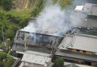 大阪強震引發火警