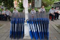 八百壯士動員抗議 警方嚴密戒備
