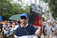 香港七一遊行要求結束一黨專政