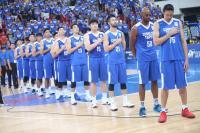 世界盃男籃亞洲區資格賽 中華列隊唱國歌