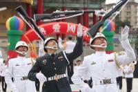 高中儀隊競賽 國軍儀隊精彩開場