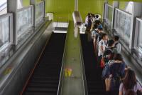 北市下午停班課 捷運站湧入搭車人潮