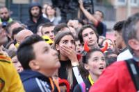 世足4強賽  比利時球迷觀賽緊張