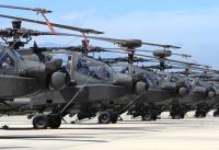 阿帕契直升機成軍  場面壯觀