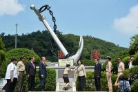 蔡總統主持新海軍啟航紀念碑揭牌