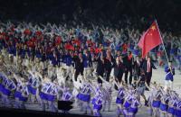 亞運開幕式 中國大陸代表團進場