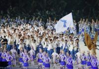 亞運開幕式 南北韓代表團進場