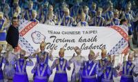 亞運開幕式 中華隊高舉我們愛雅加達旗幟