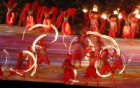 亞運開幕式 火焰秀吸睛
