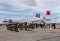 總統訪友邦 貝里斯軍禮歡迎