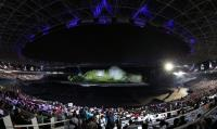 亞運開幕式亮點 壯觀山脈舞台