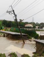 虎尾產業道路被大水沖斷