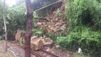 降雨致落石 台鐵集集線濁水到車埕暫不通行
