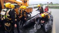 嘉義多處淹水  國軍支援居民撤離(1)