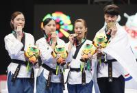 亞運中華跆拳道品勢代表隊奪雙銅