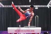 亞運體操男子鞍馬決賽 李智凱奪金