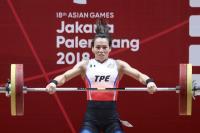 亞運舉重女子58公斤級 郭婞淳舉起金牌