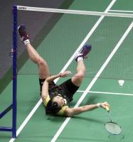 亞運羽球女單4強戰 戴資穎滾地接球