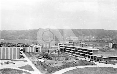 在台復校初期的輔仁大學校園。(中央社檔案照片)