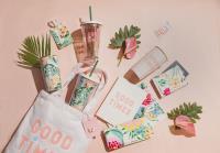 星巴克攜手美國潮流品牌  聯名商品滿溢粉嫩熱帶風情