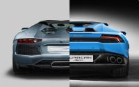同門對決 Lamborghini Aventador Roadster vs Huracan Spyder
