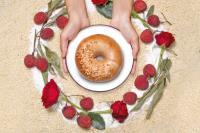 好丘『玫瑰荔枝貝果』SOGO復興館&板橋大遠百都能吃的到