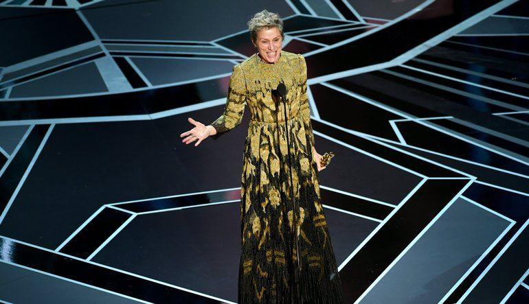 奧斯卡影后法蘭西絲麥朵曼的小金人在慶功派對不翼而飛,眾人似乎比她還緊張。(圖取自奧斯卡官網oscar.go.com)