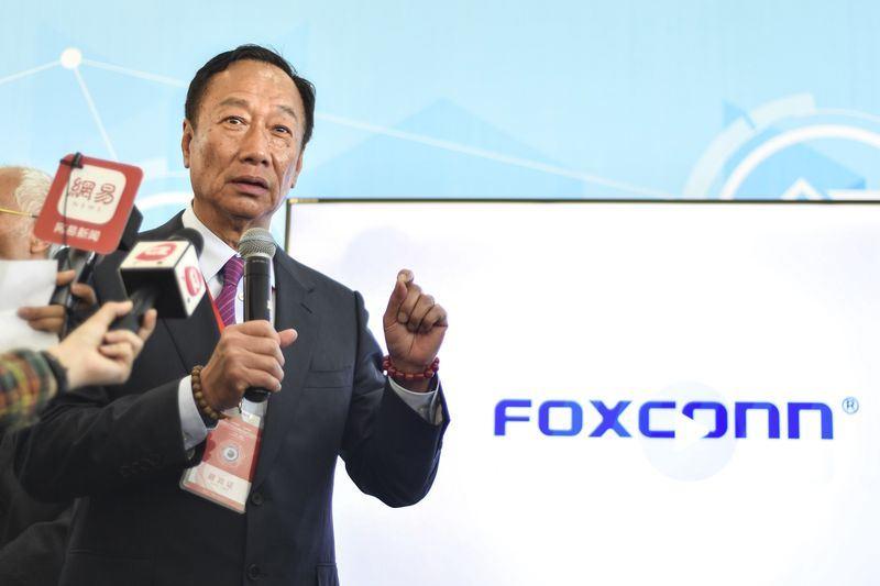 鴻海旗下富士康工業互聯網在中國首次公開發行(IPO)獲通過,僅用36天寫下A股市場IPO的歷史新速度。圖為富士康集團董事長郭台銘。(檔案照片/中新社提供)
