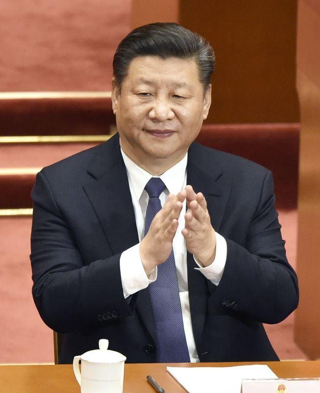 中國全國人大11日下午以2958票贊成、2票反對、3票棄權、1票無效,另16人缺席通過憲法修正案,正式取消國家主席連任限制。圖為中國國家主席習近平。(共同社提供)