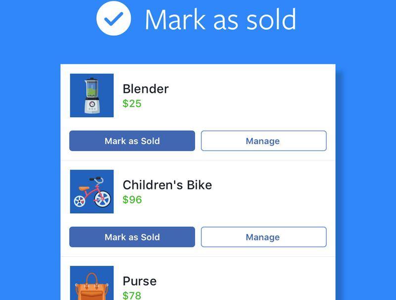 Facebook12日宣布在台灣推出Marketplace功能,透過簡易步驟即可完成商品刊登。(圖取自FacebookMarketplaceCommunity臉書www.facebook.com/fbmarketplace)