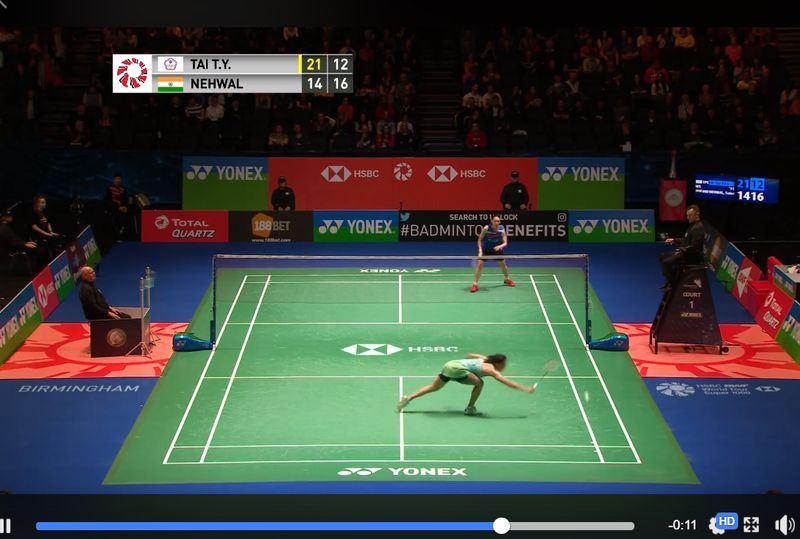羽球世界球后戴資穎14日在全英公開賽女單首戰,花費38分鐘就以直落二擊敗對手,順利晉級16強。(圖取自BWF — Badminton World Federation臉書www.facebook.com/bwfbadminton)