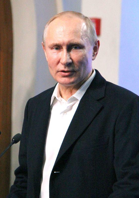 根據出口民調,俄羅斯總統蒲亭在18日的總統大選中取得壓倒性勝利。(共同社提供)